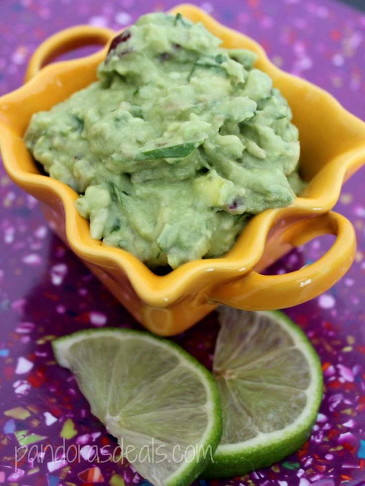 Fresh And Easy Homemade Guacamole; serve with tortilla chips or pita