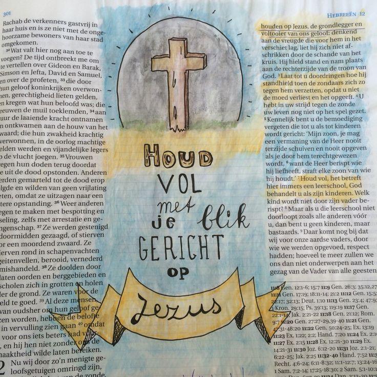 Biblejournaling Bijbeljournaling Craftbijbel  Bijbeltekst Handlettering Hebreeën