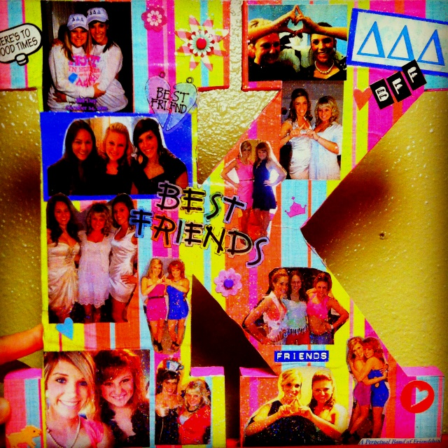 Perfect Way To Make Your Best Friend A Birthday Present Glitter Mod Podge Printed Out Pics Scrapbook Paper And Some Stickers Better T