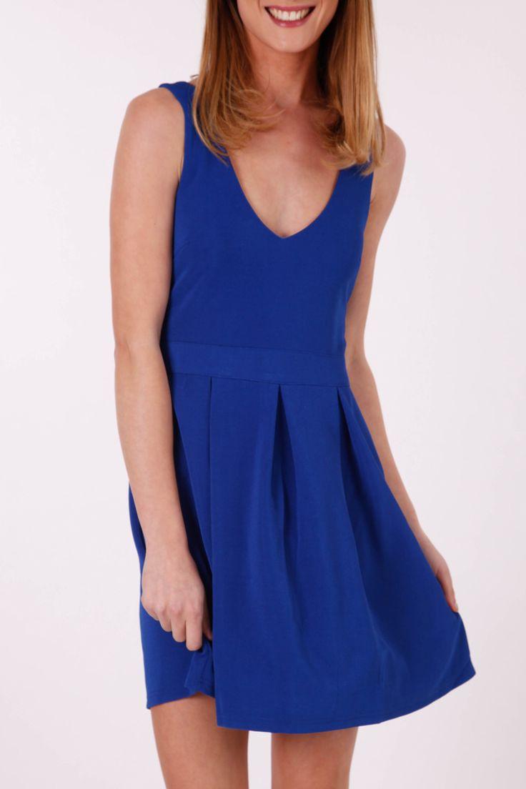 Cobalt Blue smart casual dress