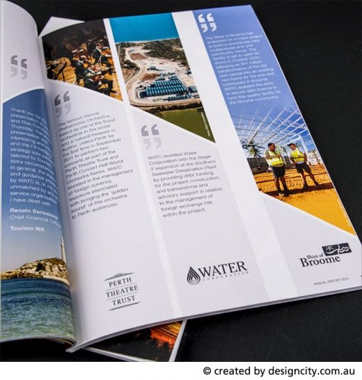 Annual report 2012 western australian treasury for Brochure design quotation