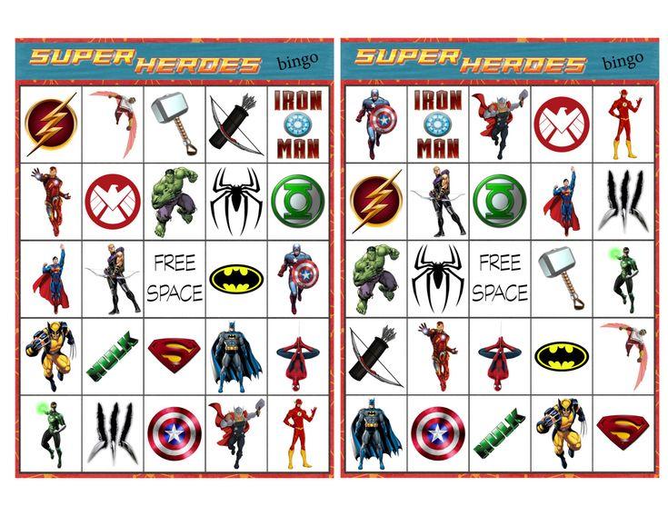 Super Hero Bingo by BackStitchMix on Etsy