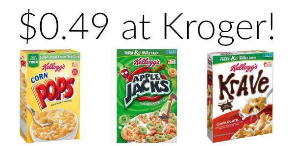 Kroger: Kellogg's Corn Pops, Krave and Apple Jacks Cereal as low as $0.49!