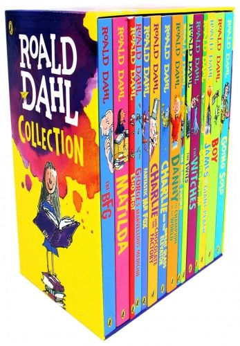 Roald Dahl Collection of 15 Books Box Set   #RoaldDahl #Classic #Matilda #TheBFG #BFG #CharlieAndTheChocolateFactory #TheWitches #TheTwits #Boy  http://www.snazal.com/roald-dahl-collection-15-books-box-set-new-covers--DEALMAN-U5-RDahl-15bksNewCover.html