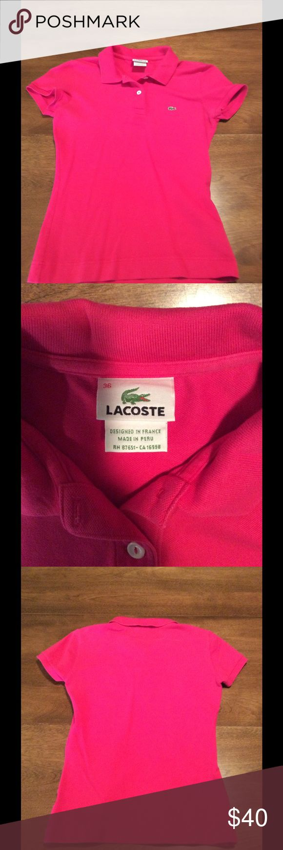 Lacoste polo shirt gently worn Lacoste polo Lacoste Tops Button Down Shirts