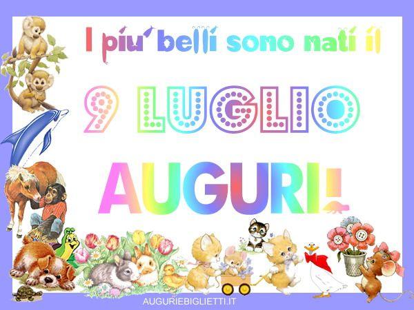 09_luglio_animali Biglietti di auguri di compleanno