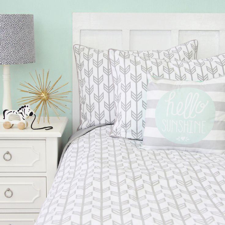 Caden Lane Baby Bedding - Gray Arrow Duvet Cover, $178.00 (http://cadenlane.com/gray-arrow-duvet-cover/)