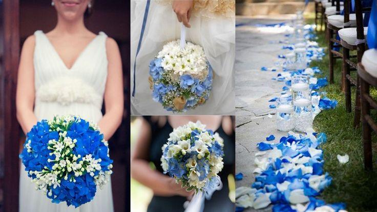 Matrimonio a tema blu, fiori blu
