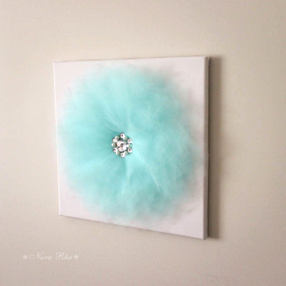 Tiffany blue Wall decor Flower Decoration Wall hanging by NaraRha