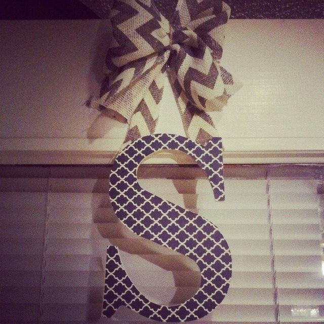 Moroccan patterned initial door hanger, monogram door hanger, quatrefoil, chevron, burlap, door decor, gift idea, wall decor, wood letter by LnPBoutique on Etsy https://www.etsy.com/listing/197872024/moroccan-patterned-initial-door-hanger