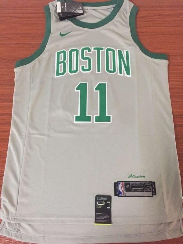 2cb5e672769 Men 11 Kyrie Irving Jersey Gray Boston Celtics Swingman Fanatics ...