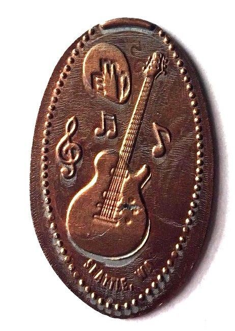 Elongated Penny Coin  GUITAR - EMP Museum - SEATTLE, WASHINGTON - RETIRED