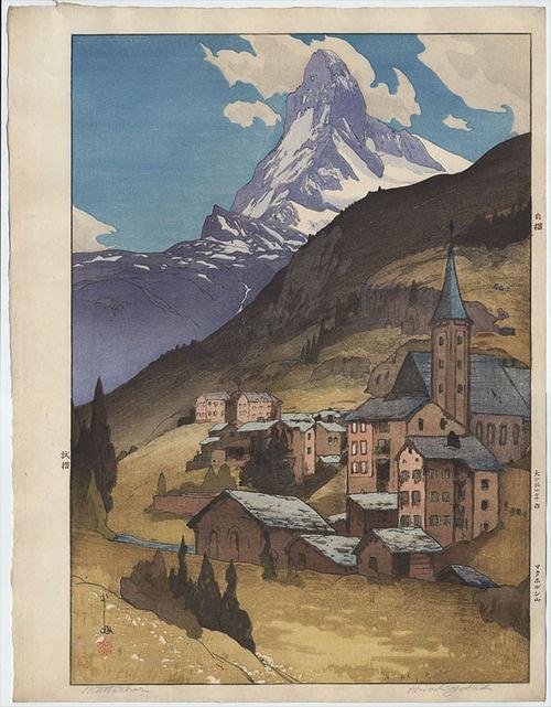 Matterhorn (day) by Hiroshi Yoshida, 1925