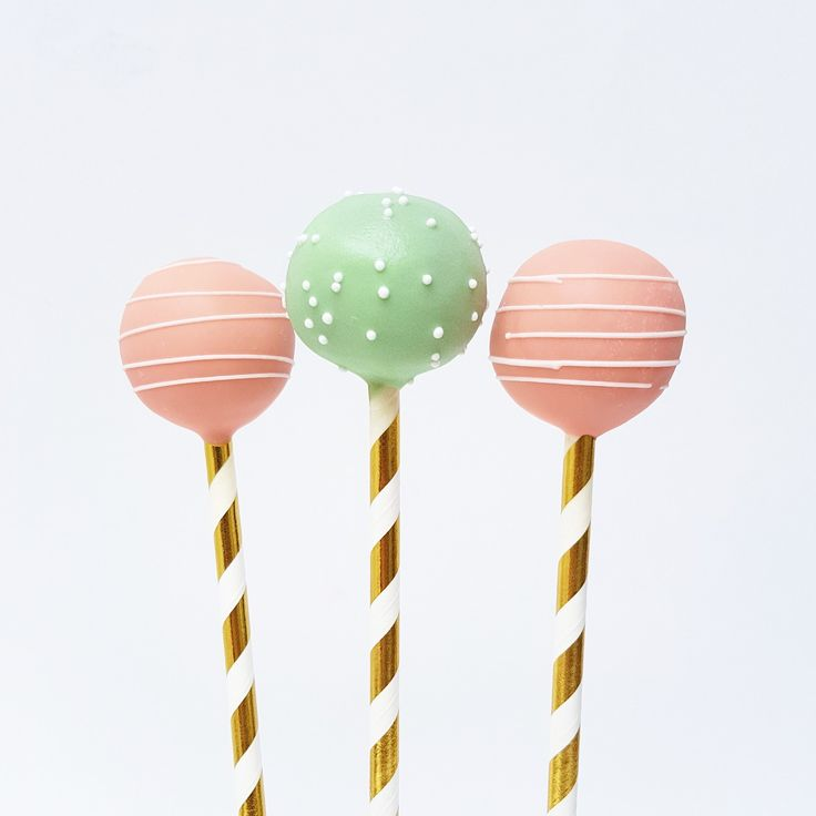 Peach Mint Cake Pops | Eini & Co.