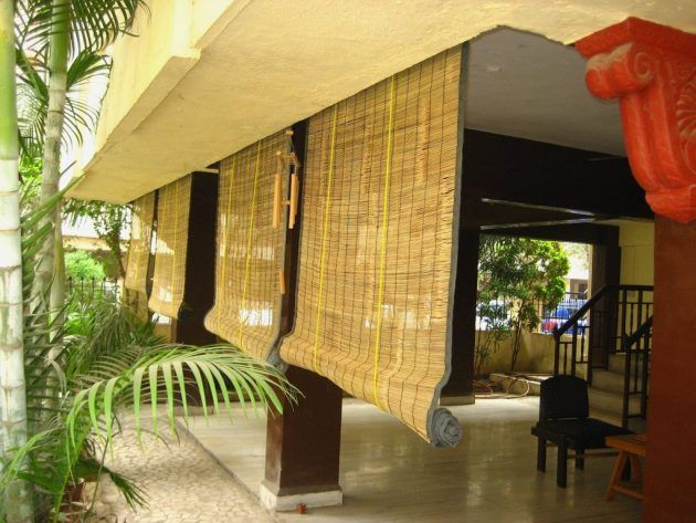 outdoor bamboo curtains outdoor bamboo