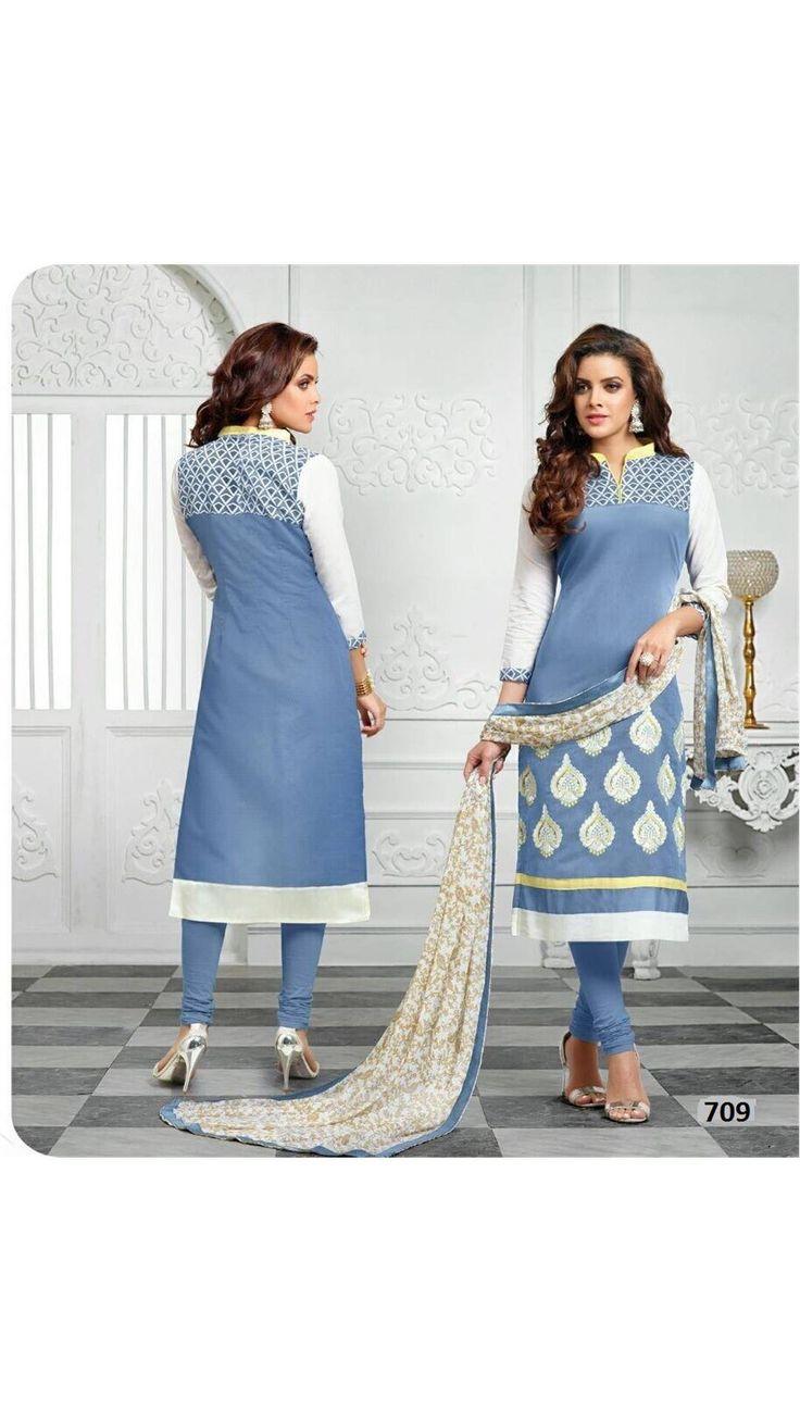 33 best Dress Materials images on Pinterest | Cotton dresses ...
