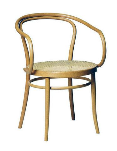 Classic August Thonet No 30 Bentwood Armchair in natural beechwood and cane seat.