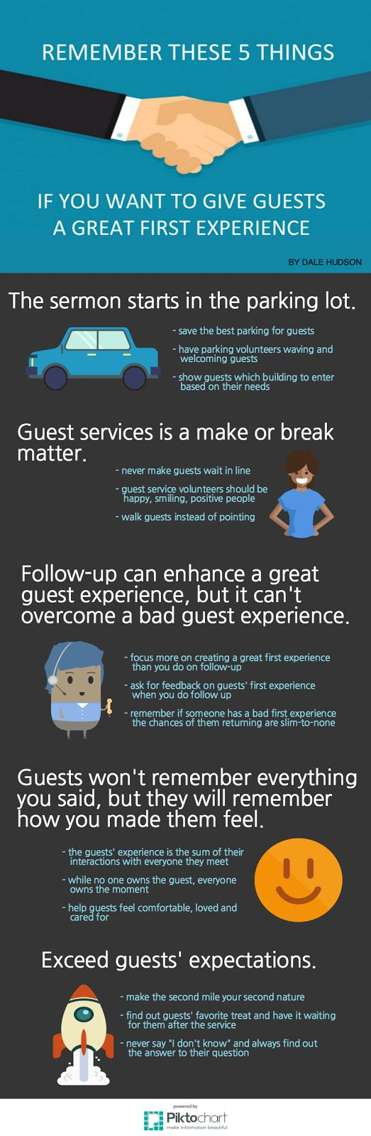 """Here are five things to remember if you want to give guests a great first experience."""