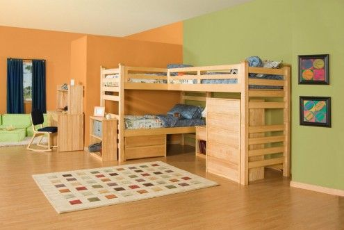 Triple Bunk Beds Wooden - Downloadable Free Plans