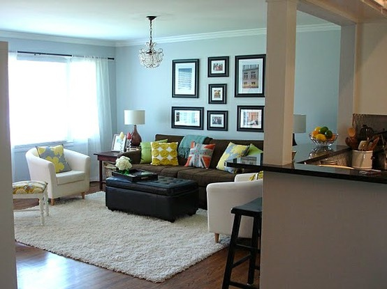 COLOR SCHEME INSPIRATION Powder Blue Living Room