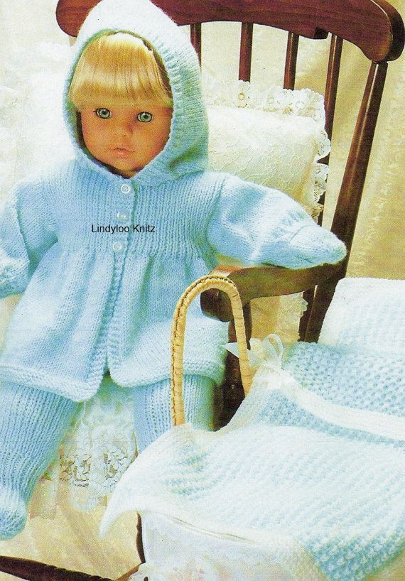 PDF Knitting Pattern Dolls Clothes 16 inches 41 by LindylooKnitz