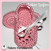Ravelry: Italian Loafers/Booties pattern by Maria Bittner Price $3.75