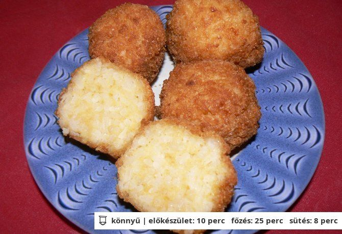 Sajtos rizsgombóc Tésztásfül konyhájából. A recept a NoSalty - n megtalálhatod .