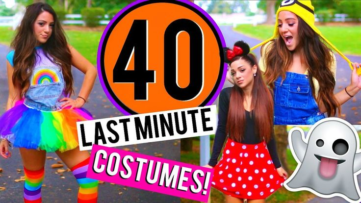 40 Last-Minute DIY Halloween Costumes! Niki and Gabi - https://www.tradedivine.com/40-last-minute-diy-halloween-costumes-niki-and-gabi/