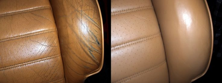 contacting local Porsche or BMW dealer & asking who they have do their leather work for them. having someone who knows what they're doing take a look at if for you.seats professionally redyed and the process she used has held up fine. She used some flexible filler from Leatherique to fill the big cracks & then sanded it smooth, it was a lot like doing body work. The color match was excellent, different lighting accounts for the color difference in the picture below.