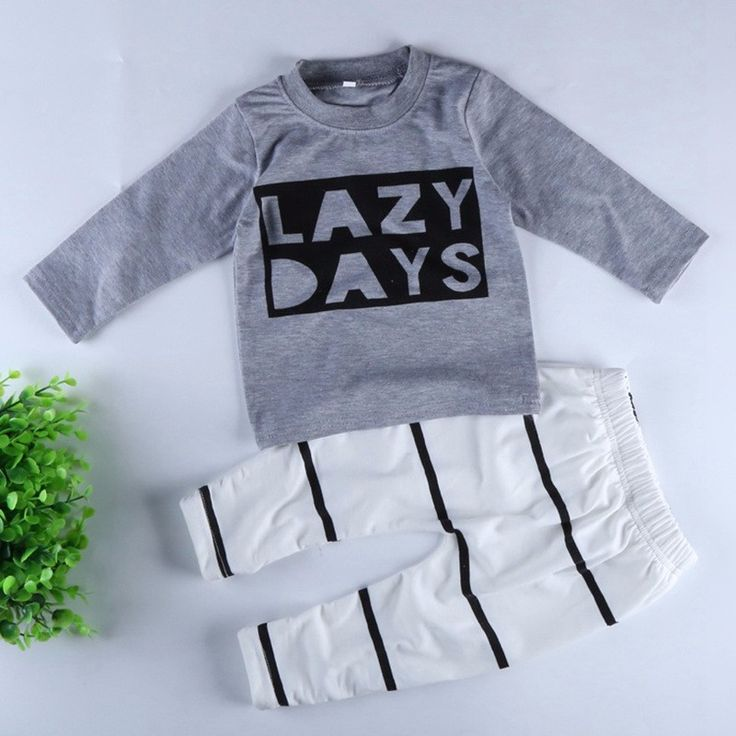 Lazy Days Baby Boy Long Sleeve Cotton T Shirt And Pants Newborn baby boy clothes, baby boy outfits, cute baby boy clothes,  newborn boy clothes, infant boy clothes, unisex baby clothes, cool baby boy clothes, cute baby boy outfits, newborn boy outfits, ba https://presentbaby.com