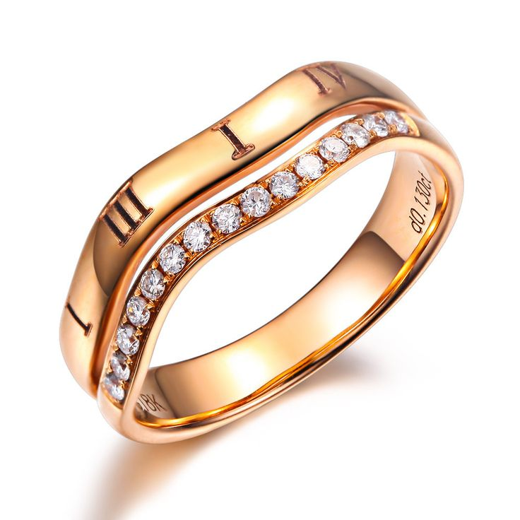 0.13CT I J/SI Diamond Wedding Rings For Woman/Man GVBORI 18K Gold Engagement Ring Fine Jewelry Womens Day Gift
