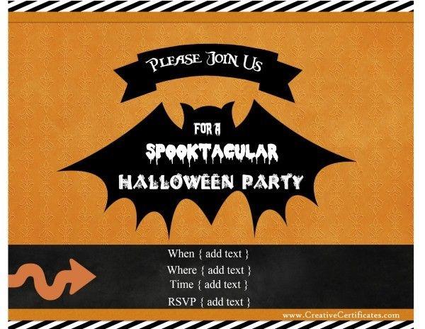 42 best halloween images on pinterest halloween cards custom halloween party invitations stopboris Images