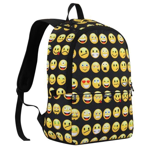Smiley Face Backpacks Emoji Travel Shoulder Bag Backpacks For Teens Backpacks School Backpacks College Backpack Emoji Backpack Travel Shoulder Bags Emoji Bag