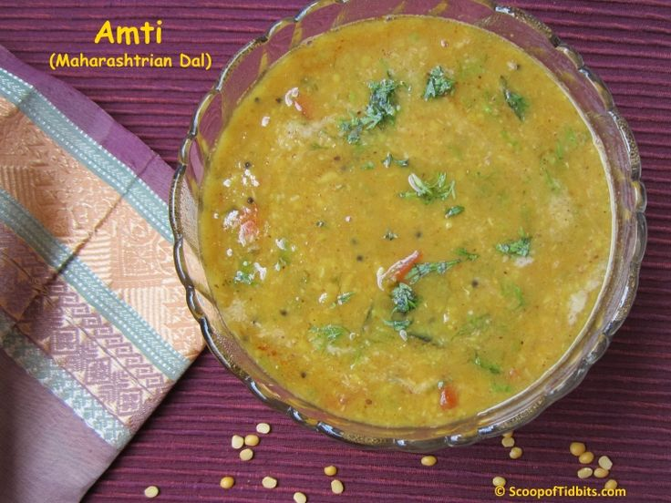 Amti or Maharastrian Amti Dal is a Maharashtrian style dal preparation with a balanced flavor of both sweetness and tanginess. Sweetness from the jaggery a