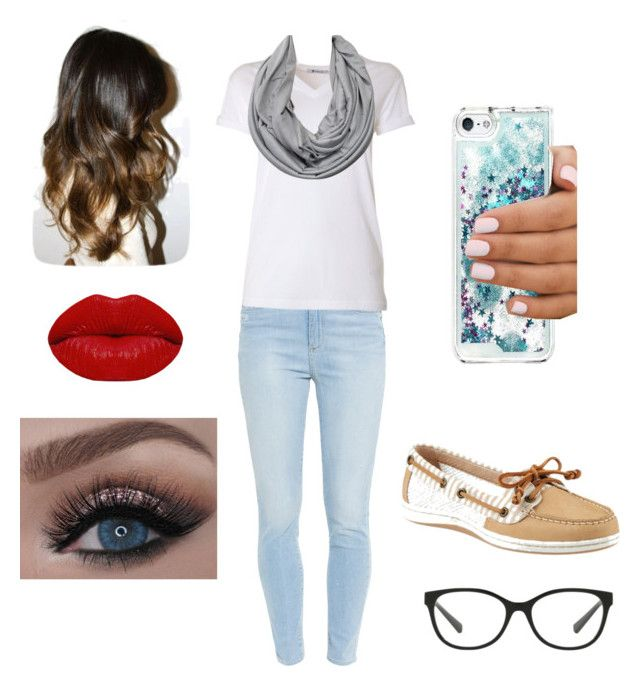"""""""Untitled #1"""" by tingram871 on Polyvore featuring Paige Denim, T By Alexander Wang, Sperry, Armani Exchange and Winky Lux"""
