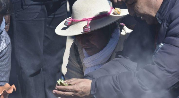 En San Antonio de los Cobres le rindieron homenajes a la Pachamama. Foto: Néstor Troncoso