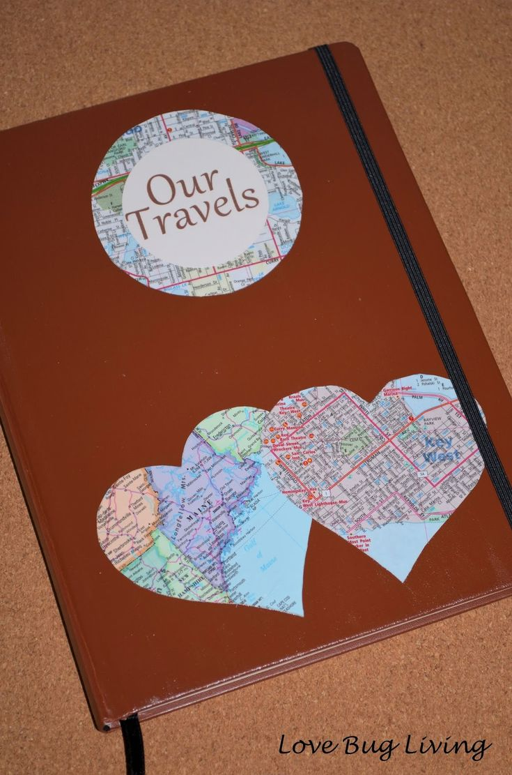 Love Bug Living: Honeymoon Travel Journal Gift.  Great wedding gift for the newlyweds that like to travel.