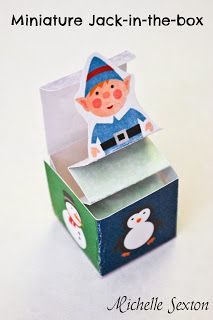 Miniature Jack-In-The-Box Paper Craft Christmas Printable