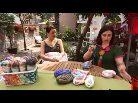 Alize Diva Batik ile Dekoratif Yastık - Decorative Pillow with Alize Diva Batik - YouTube