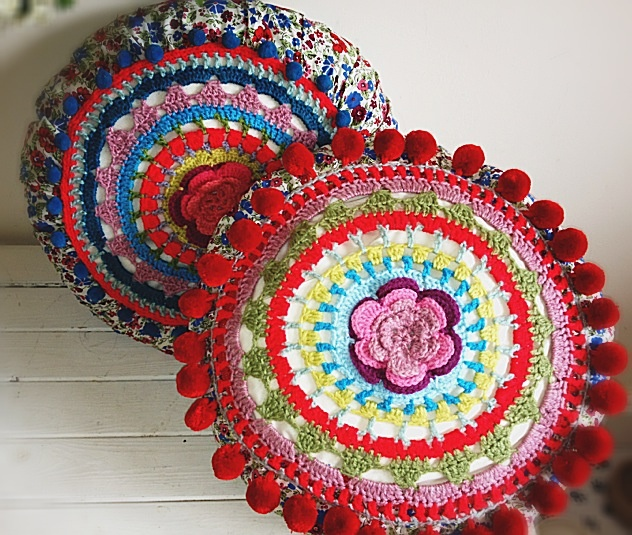 Gypsy crochet cushions
