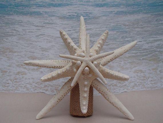 SALE* Starfish Tree Topper- Natural, Gold or Silver Glitter - Rustic Coastal Nautical Beach Christmas Xmas Tropical Sand Hawaii Hawaiian Top
