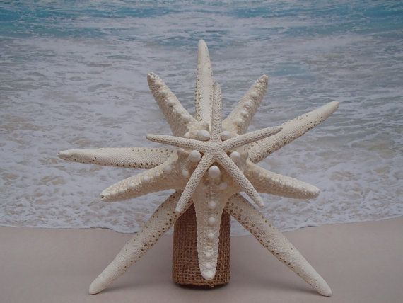 SALE* Starfish Tree Topper- Natural, Gold or Silver Glitter - Rustic Coastal Nautical Beach Christmas Xmas Tropical Sand Hawaii Hawaiian Top