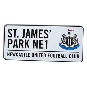Newcastle United Fc Football Street Sign Official Board by Newcastle United F.C.. $18.63