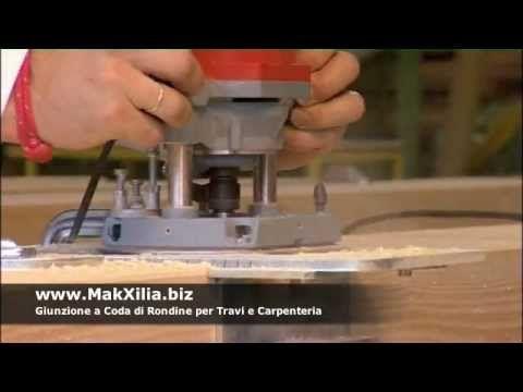 Sistema per la realizzazione giunzioni a coda di rondine per travi legno...