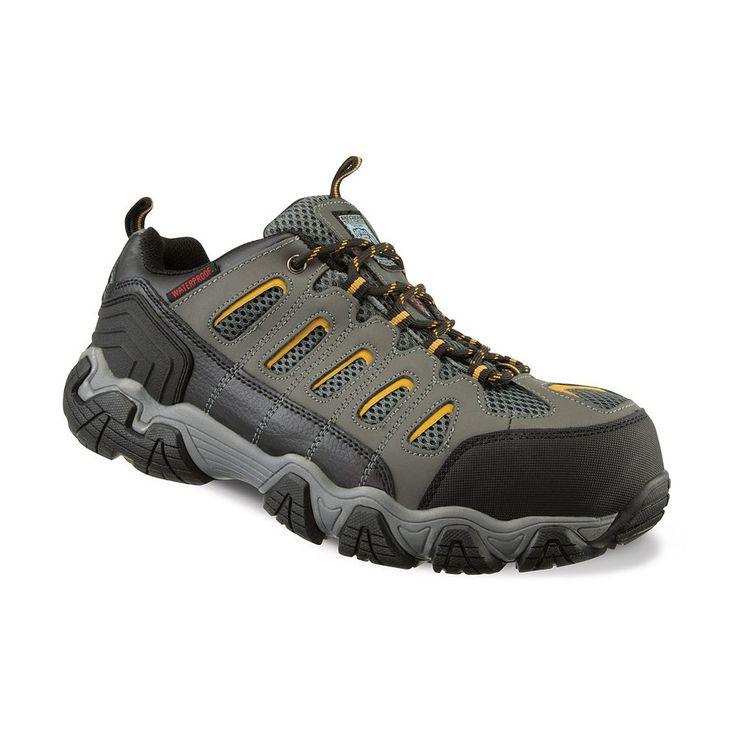 Skechers Work Blais Steel Toe Men's Waterproof Work Shoes, Size: 9.5, Dark Grey