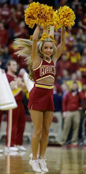 Iowa State cheerleader