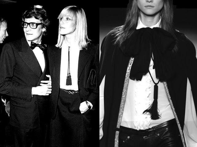 INTO+THE+ARCHIVES+Yves+Saint+Laurent+and+Betty+Catroux+1969…+Saint+Laurent+SS||2013.jpg 640×480 pixels