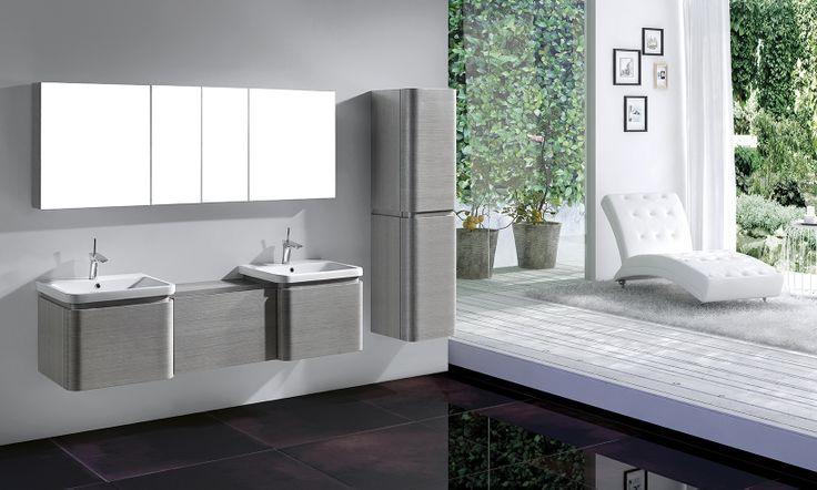 Best Euro Ash Grey Modern Bathroom Furniture Grey Bathroom 400 x 300