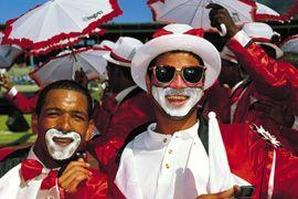 Cape Town Minstrel Carnival similar to the Mardi Gras.