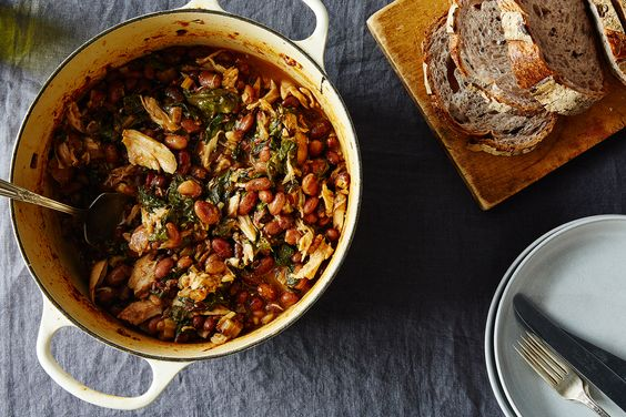 Chicken, Chard, and Cranberry Bean Stew, a recipe on Food52